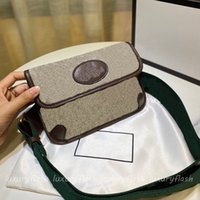 Tiger Head Mens Designer Crossbody Bags Women Luxurys Shoulder Chest Purse Wild Retro Baguette Small High-quality Handbags Canvas Cowhide