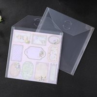Bag Clips 10pcs Transparent File DIY Scrapbooking Stencil Waterproof Collect Pouch Cutting Template Storage