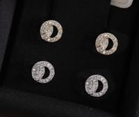 Мода Золотая Алмазные Серьги Гребовые Серьги Арете для Леди Женщины Вечеринка Свадебные Любители Подарочные Обручальные Изделия Для Невесты с коробкой есть марки