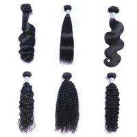 Brazillian Mink Straight Brazilian Loose Kinky Wave Deep Hair Unprocessed Bundles Peruvian Indian Human Curly Body Weave Nlfai