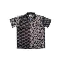Rhude niche design high street cashew blossom stitched short sleeve shirt men's and women's casual high sense shirt fashion 58LA