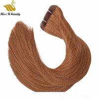 200gram remy cabelo humano pacotes de cabelo plana extensões de cabelo de extensões alinhadas cutículas sem fins divisão termina preto marrom cor loira