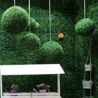 Dekoracyjne kwiaty wieńce sztuczne rośliny Mediolan Grass Ball Indoor Green Vegetation Decoration Set Set Reps Shopping Mall Flowe