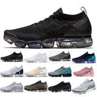 2021 Chaussures de course de concepteur Flyknit 2.0 Triple Noir Classic Hommes Femmes Sports Sports Sneakers Fly Blanc Trains Coussins Sports Baskets Respirants Zapatos Chaussure avec boîte