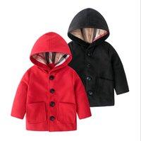Frühling Herbst Baby Jungen Mädchen Windjacke Jacken Kinder Mit Kapuze Mäntel Neue Mode Kinder Woolen Outwear Jungenjacke Mädchen Tench Mantel