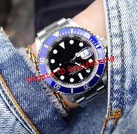 2020 Son Kol Saati Lüks Erkekler İzle 41mm 126610 16610 126618 126613 124060 Mavi Seramik Çerçeve Otomatik Mekanik Erkek Spor Saatler