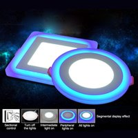 1 pcs LED Downlight Rodada 3W - 18W Modelo LED Lâmpada Lâmpada Double Color Painel RGB Teto Branco Recessado com Controle Remoto