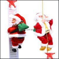 Decorations Festive Supplies & Gardenelectric Claus Climb Christmas Electric Climbing Ladder Santa Toy Home Party Decor Battery Powered Xmas