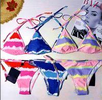 Kadın Bikini Suit Seksi Iki Parçalı Set Spagetti Kayışı Yastıklı Sutyen + Bikini Alt Yaz Giyim Moda Plaj Swim Suit Artı Boyutu Ücretsiz 3369