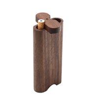 Estuche de madera DogOut Natural Hecho A Mano DuGout Con Cerámica Un Hitter Metal Limpieza Gancho Tabaco Tipes Fumar Portátil