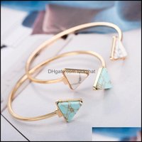 Bangle Jewelrybangle Jujie Natural Stone Bracelets Triangle Bangles Drop Delivery 2021 Fbejg