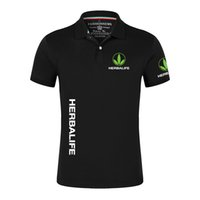 2021 Herbalife Beslenme Yaz erkek Rahat Kısa Kollu Katı Renk Tshirt Adam Klasik Üstleri Açık Özelleştirmek T-shirt L0223