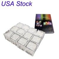 Mini LED Eiswürfel Multi Farbe Wechseln Flash Lights Kristallwürfel Für Party Wedding Event Bars Chirstmas Halloween Dekorationen USA Aktienight