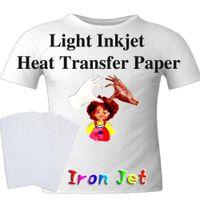 Süblimasyon Boşlukları Kağıt A4 Mavi Izgara Işık Renk Saf Pamuk T-shirt Süblimasyon Kağıt Demir Isı Transferi Kağıt XD24547