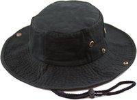Şapka Depo Pamuk Taş Yıkama Safari Geniş Brim Katlanabilir Çift Taraflı Güneş Boonie Balıkçı Hatv44V