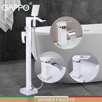 욕실 샤워 세트 Gappo 수도꼭지 화이트 크롬 Do Anheiro 꼭지 믹서 바닥 마운트 욕조 욕조 분지