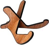 나무베이스 기타 스탠드 두꺼운 합판 X- 프레임 스타일 휴대용 보편적 인 부드러운 가죽 가장자리