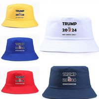 2024 Trump US Casquette de l'élection Présidentielle Hommes Femmes Bucket Casquette Gardez l'Amérique Great Hat President Trump Lettres Pêcheur Chapeau Cap Viseur
