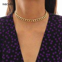 Ожерелья Ingesight! z punk miami cuban толстая короткая шея простой минималистский золотой цвет коренастый для женских драгоценных камней