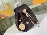 Montsouris حقيبة جلد رجالي المرأة حقائب زهرة إلكتروني نمط تنقش مونتسوري المحافظ أكياس M45205 M45410 M45397