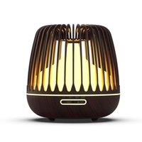 Увлажнители KBaybo 500ML аромат диффузор эфирного масла ультразвукового воздуха увлажнитель воздуха древесина зерна 7 изменение цвета светодиодные светильники прохладный туман для дома