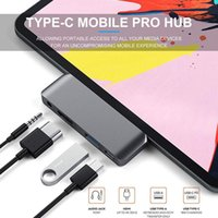 USB-C HUB Type-C Mobile 4 in 1 Adapter with USB C PD Charging 4K HDMI USB-3.0 & 3.5mm Headphone Jack For iPad Pro Tablet