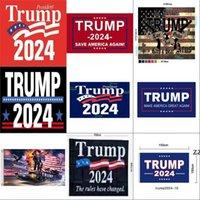 Campaña de diversidad de diseño para la bandera presidencial de los Estados Unidos 2024 Banderas de la elección Trump Terylene MixColor Banners No más 90 * 150cm HWD8394
