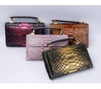 Wallets Luxury Arrival 2021 Fashion Phone Wallet Bag Python Lady Chain Clutch Crocodile Skin Bags Women Handbag
