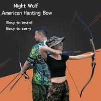 Night Wolf Amerykański Tradycyjny Polowanie Recurve Bow Split Laminat Odbicie Fast Outdoor Konkurencyjny łucznictwo Praktyka Rzeczywista walka