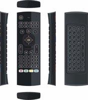 MX3 백라이트 무선 키보드 IR 학습 2.4G 무선 원격 제어 비행 AIR 마우스 백라이트 Android TV 박스 PC PC I8 T3
