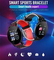 New 119 Plus Smart Bractelet Fitness Tracker ID119 Watch Beart Rate Rate Basd Smart Wristband 119Plus для мобильных телефонов с коробкой Fitbit Mi