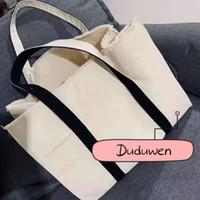 Klassische C-Leinwand Einkaufstasche Gedruckt Mode Strand Tasche Kette Reise Tote Wash Bag Gedruckt Buchstaben Kosmetische Aufbewahrungskoffer
