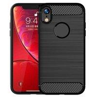 ل iphone XR حالة ألياف الكربون لينة TPU الغطاء الخلفي لفون 12 11 8 8plus