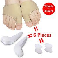 6 шт. / Упаковка TOE сепаратор Hallux Valgus Tool Thumbs Thumb Valgus Protector Protuster Bunion Artuster обезболивает выпрямить согнутыми ногами