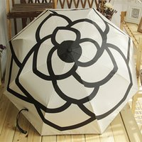 Hohe Luxusmarken Qualitätskamellie Automatische Regenschirm Regen Frauen Männer Falten UV Sun Transparente Sonnenschirme Regenschirme KA4D