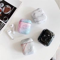 Fashion Luxury Earphone Cases For Airpods 2 1 Charging Box Marble Pattern Case Protector shell Shockproof to Air pods Pro Cover