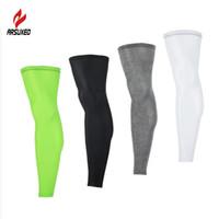 Une paire anti-UV Legwarmers Compression Compression Bike Sports Leggings Courir de randonnée pédestre basketball Soccer manches Sécurité de sport