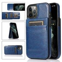 Telefoongevallen met gesp flip-kaart slot portemonnee stand PU lederen case cover voor iphone 12 11 pro max xs xr 5 6 7 8 SAMSUNG S21 S20 S10 S8 Note 10 plus Lite 20 Ultra Huawei