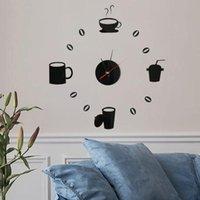 Wall Stickers DIY 3D Number Clock Mirror Sticker Home Room Modern Office Decor Art Design 2021