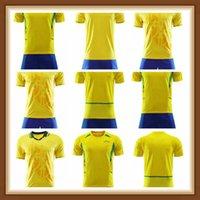 MAN Kids Kit 1994 2002 Brasil Soccer Jerseys Camicie retrò Carlos Romario Ronaldo Ronaldinho Camisa de Futebol Brasile Rivaldo Adriano