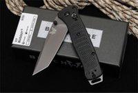 Benchmade 537 coltello pieghevole elevata durezza d2 lama materiale in nylon in fibra di vetro in fibra di vetro maniglia per autodifesa tasca di sicurezza coltelli militari EDC strumento HW472