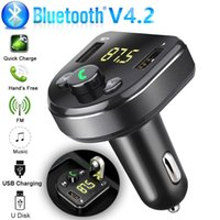 Auto Freisprecheinrichtung Wireless Bluetooth Kit FM Sender LCD-Auto MP3-Player USB-Ladegerät FM-Modulator-Zubehör Netzteil