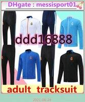 2021 2022 Real Madrid Fussball Training Anzug Jacke 21/22 Camiseta de Futbol Hazard Benzem MODRIC Jogging Fußball Trainingsanzug