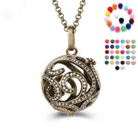 Chains High Quality Necklace Open Lockets Colorful Essential Oil Aroma Diffuser 80cm Stainless Chain