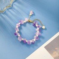 Beaded, Strands Natural Stone Bracelet Women's Irregular Freshwater Pearl Charm Bracelets