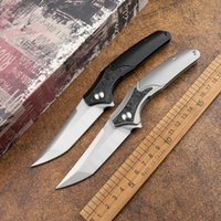High hardness M390 powder steel TC4 titanium alloy handle folding knife sharp outdoor hunting self-defense portable EDC tool