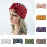 Winter Flower Ciepły Camellia Headband Przycisk One-Piece Woul Heatgear Hair Akcesoria do włosów Turban Hairband dla kobiet