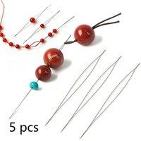 5 stücke perlen nadel open perlen nadel diy perlen nadel herstellung lieferungen handgemachte pins schmuckzubehör werkzeuge
