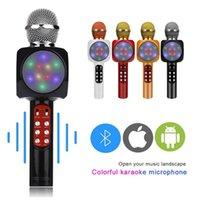 WS1816 Microfone Handheld Sem Fio Bluetooth Condensador Karaoke Microfone USB Player Mic Speaker para Home KTV PK WS858