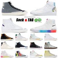 2021 Blazer de alta calidad Mid 77 Vintage Zapatillas de correr Vintage tiene un buen juego Greal Gris Gris Thermal Blanco Brillante Carmesí Zapatillas Sneakers Tamaño 36-45